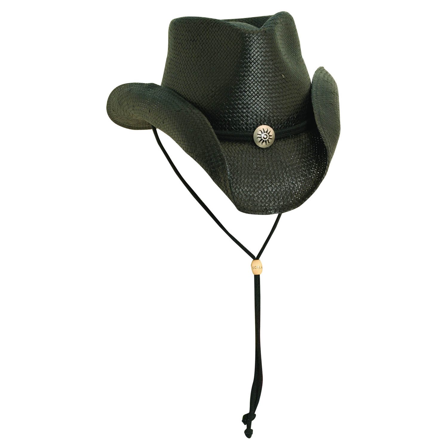 Toyo Western Hat with Concho and Chin Cord Black b5fce49490a