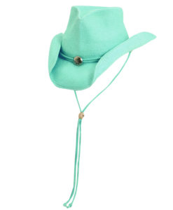 Toyo Western Hat with Concho and Chin Cord Turquoise