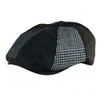 Stetson Wool Blend Patchwork 8/4 Cap Black