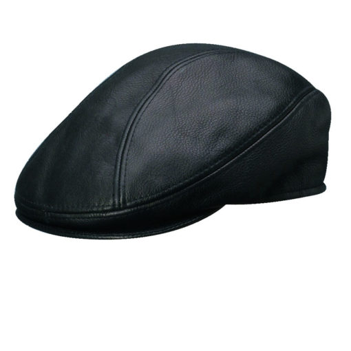 Stetson Distressed Leather Ivy Cap Black