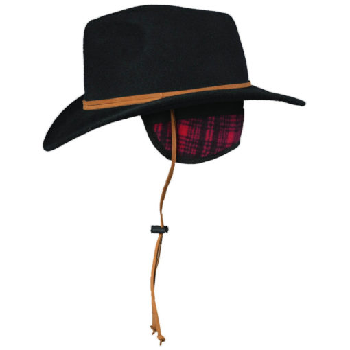 Woolrich Crushable Wool Felt Outback Hat with Earlaps Sideview