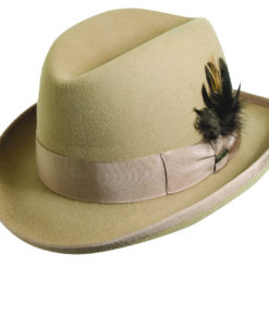 Wool Felt 'Godfather' Homburg Camel