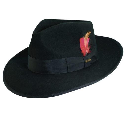 Wool Felt Zoot Hat Black