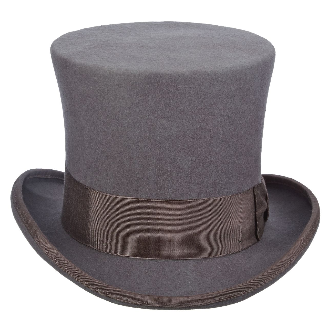 ad446a3a732 Wool Felt Top Hat with 7 inch Crown Grey. WF567 GREY FT